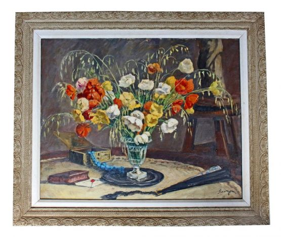 Натюрморт с цветами в стиле Ар-Деко, ХХ в.