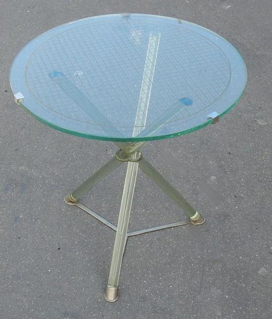 Стеклянный стол в стиле Ар-Деко. Maison Jansen, XX