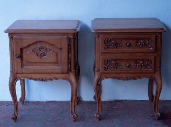 Две прикроватные тумбочки из  дуба, Людовик XV