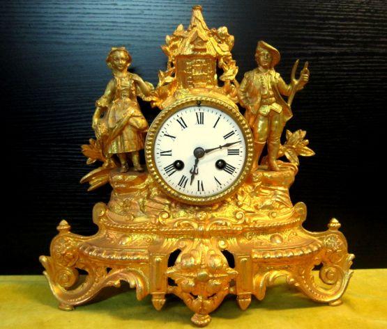 Часы 'Сбор урожая' эпохи Наполеона III, XIX в.