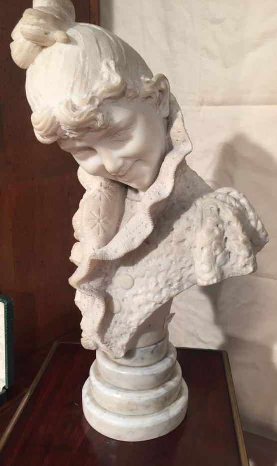 Мраморный бюст молодой женщины, XIX в.