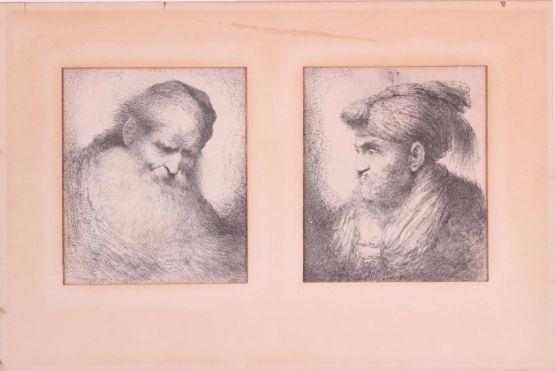 Два эстампа. Castiglione, вторая половина XVII в.