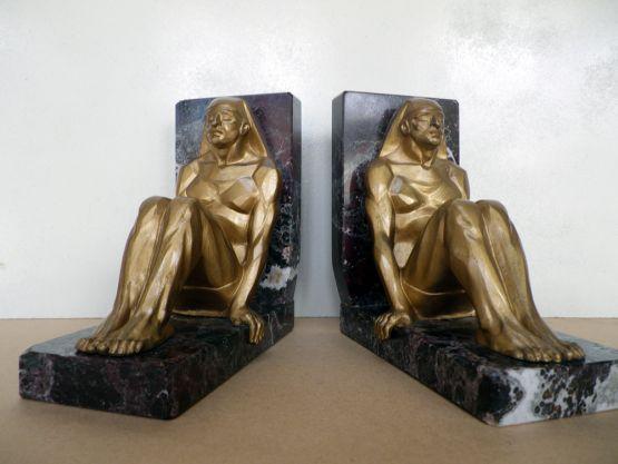 Держатели для книг 'Египтяне', бронза, XX в.