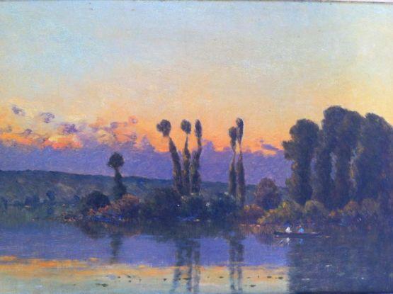 'Прогулка в лодке'. Jacques Henri Delpy, XX в.
