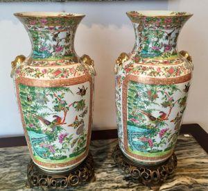 Две вазы из кантонского фарфора, XIX в.