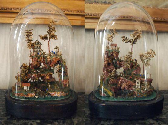 Два макета деревушки, Франция, XIX в.