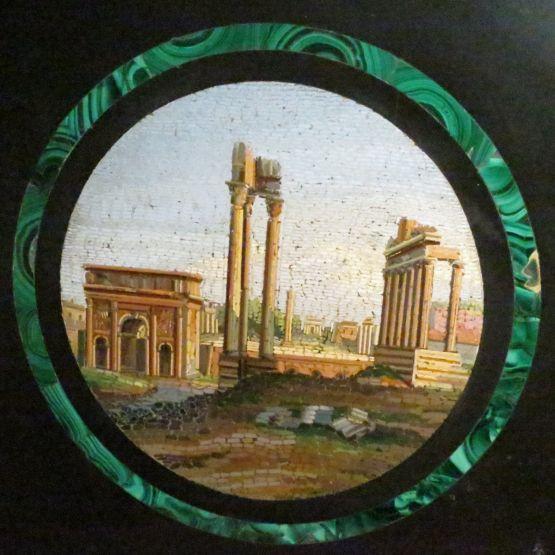 Круглый поднос, мрамор, Италия, XIX в.