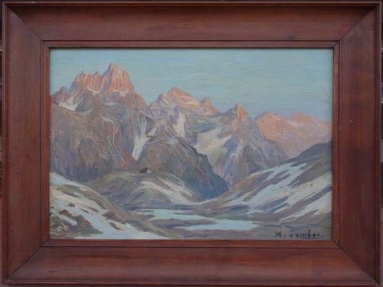 'Альпийские вершины'. Maurice Cambon, XX в.