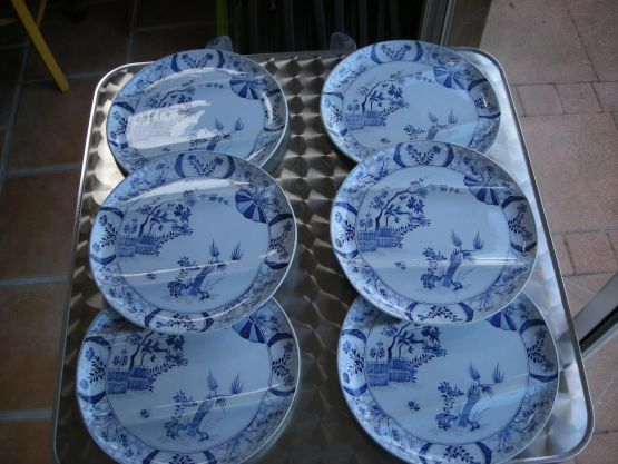 6 фарфоровых тарелок 'Япония'. Франция, XIX в.