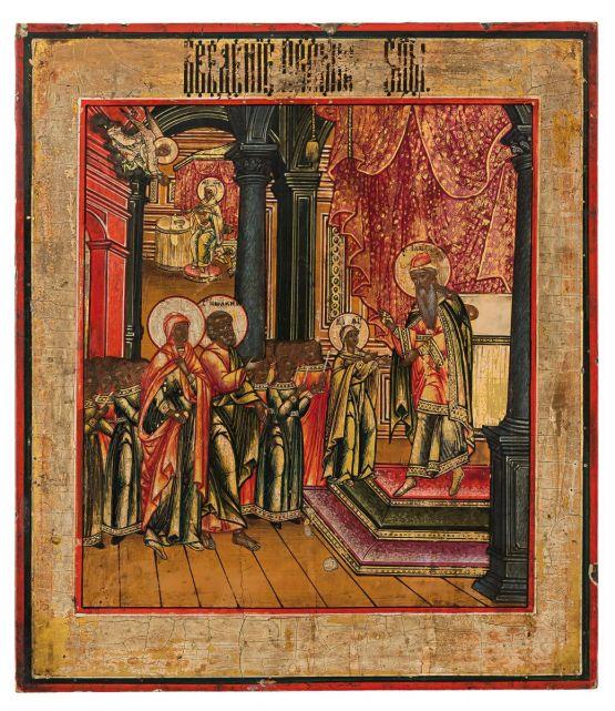 Икона 'Введение во храм Пресвятой Богородицы',  XI