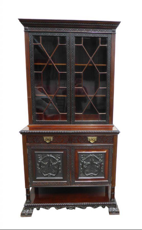 Книжный шкаф в стиле Чиппендейл