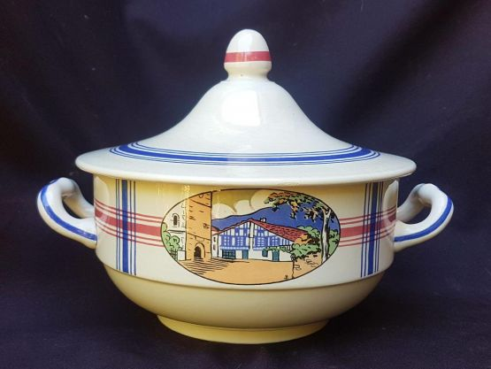 Фаянсовая супница. Sarreguemines, 1937 г.