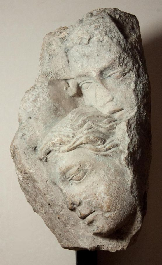 Готический рельеф из известняка, 1200-1220