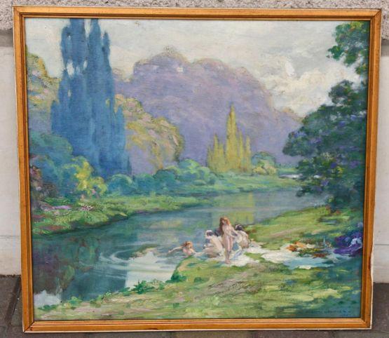 'Юные купальщицы'. Jules Hubert Gautier, ХХ в.