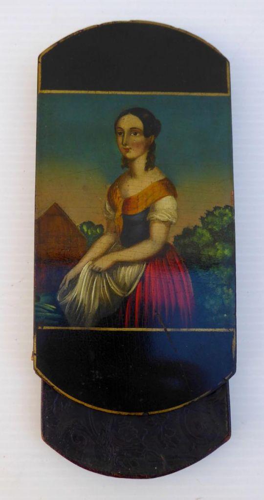 Кожаный портсигар, эпоха Романтизма, ок. 1830 г.