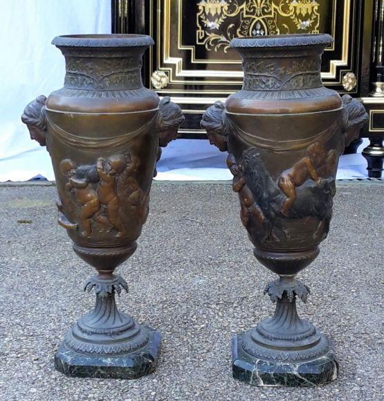 Два мраморных вазона эпохи Наполеона III, XIX в.