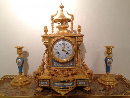 Набор с часами в стиле Наполеона III. Dalibon,  XI