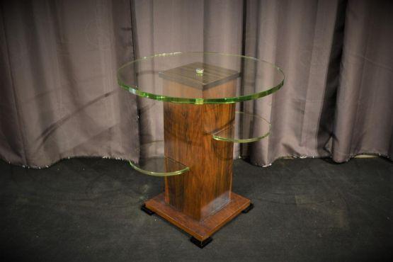 Кофейный столик из стекла и ореха, ХХ в.