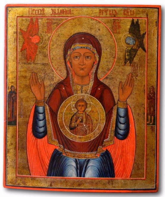 Икона Божьей Матери 'Знамение'. Россия, XIX в.