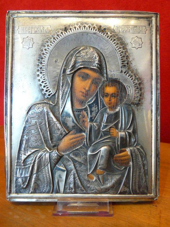 Икона Иверской Божьей Матери. Россия, XIX в.