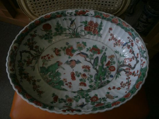 Чаша из китайского фарфора Famille Verte, XVIII в.