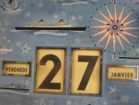 Вечный календарь. Generale Transatlantic, 1962 г.