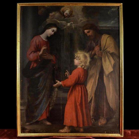 'Святое семейство', масло, холст, Р. Ванни, XVII в