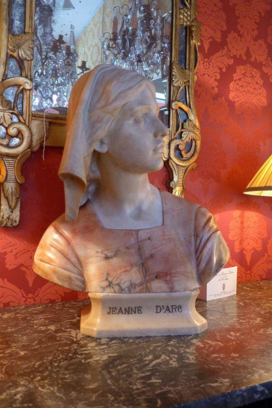 Мраморный бюст Жанны Д'Арк, XIX в.