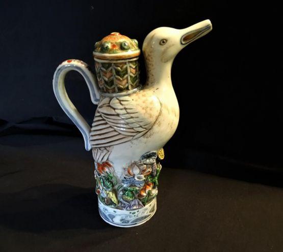 Керамический кувшин зооморфной формы. Япония, XIX