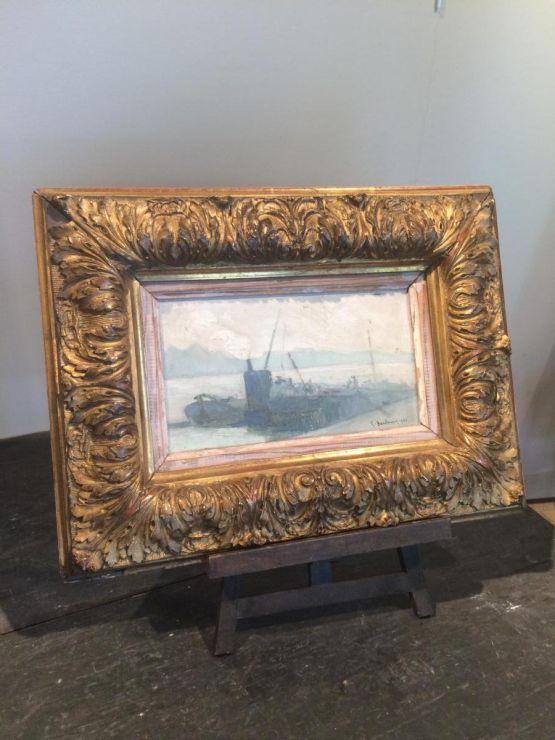 'Морской порт Руана'. Paul Baudouin, 1930 г.