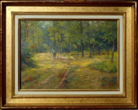 Пейзаж. Alexis Delahogue, начало ХХ в.