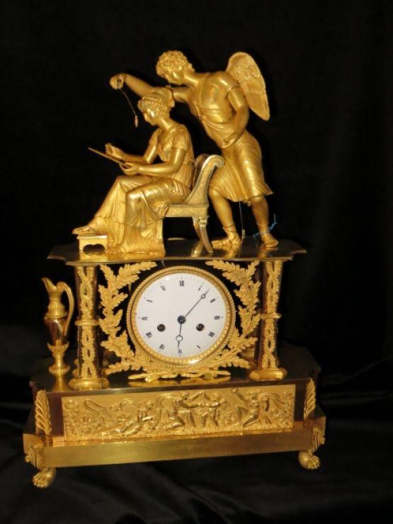 Часы 'Вдохновение' в стиле ампир, 52 см