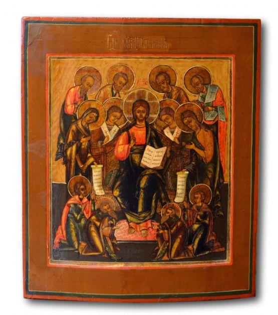 Икона 'Деисус'. Россия,  конец XVIII в.