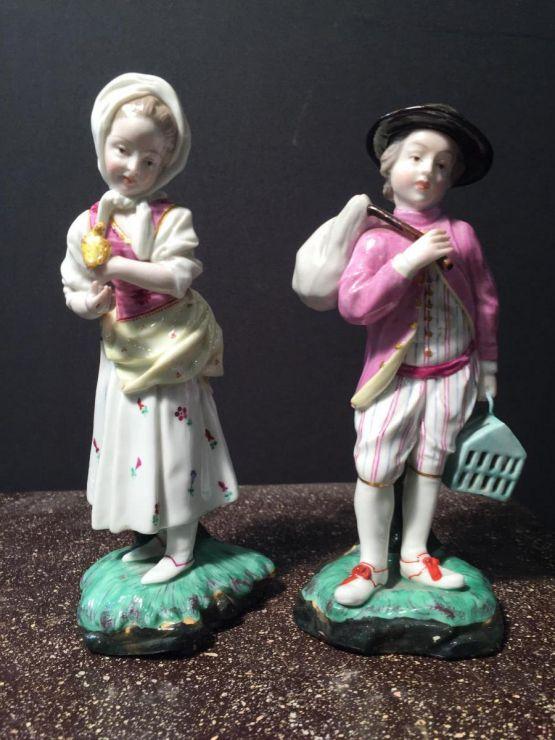 Две статуэтки из фарфора Хёхст, XVIII в.