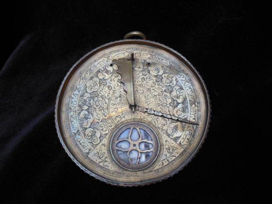 Латунный компас Кибла, XIX в.