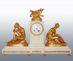 Часы из мрамора и бронзы. Susse Frères, XIX в.
