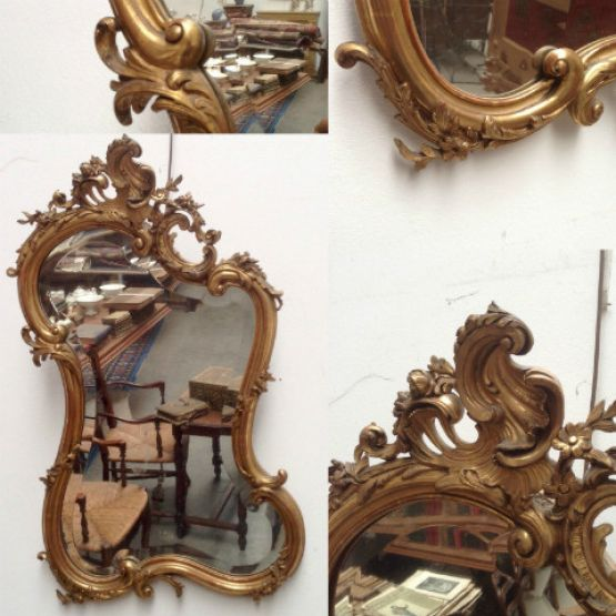 Зеркало в стиле эпохи Людовика XV, XIX век