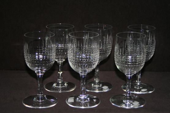 6 бокалов для вина 'Nancy', ХХ в.