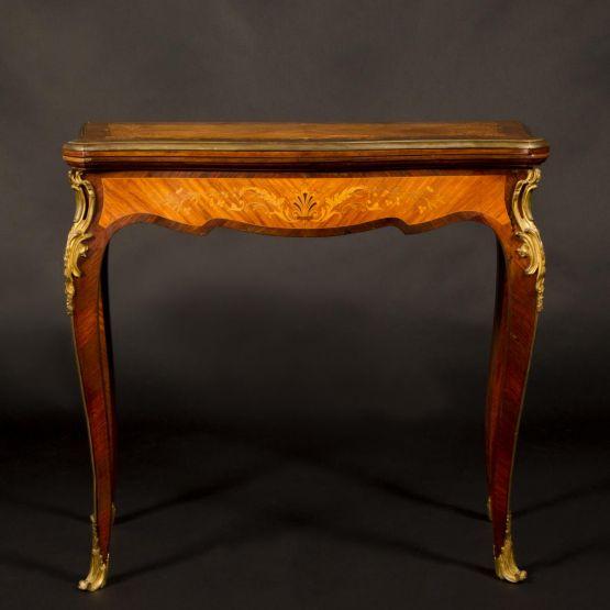 Игральный столик с маркетри, XIX в.