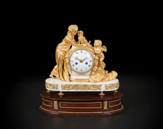 Каминные часы 'Венера и Купидон', XVIII в.