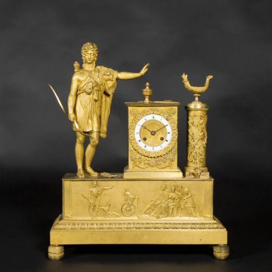 Часы 'Купидон' из позолоченной бронзы, 1880 г.
