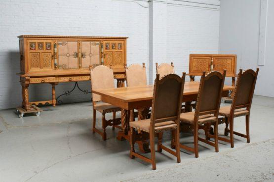 Испанский гарнитур для столовой в готическом стиле