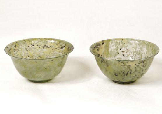 Две чаши из жадеита, Китай, к. XIX - н. XX вв.