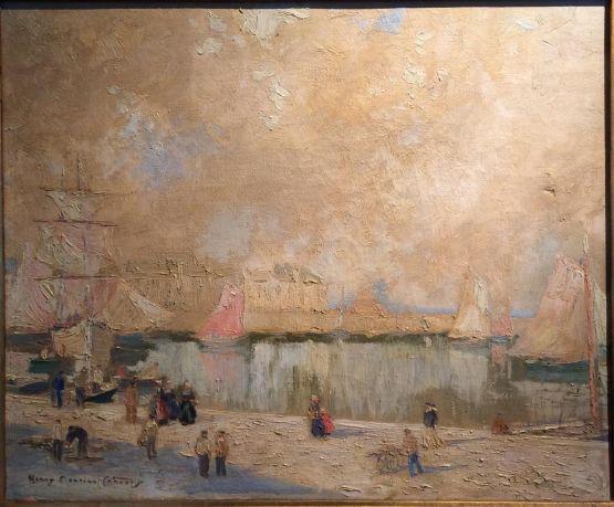 'Рыбный рынок в гавани'. Henry Maurice Cahours, ХХ