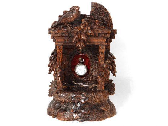 Подставка для часов из черного дерева, XIX в.
