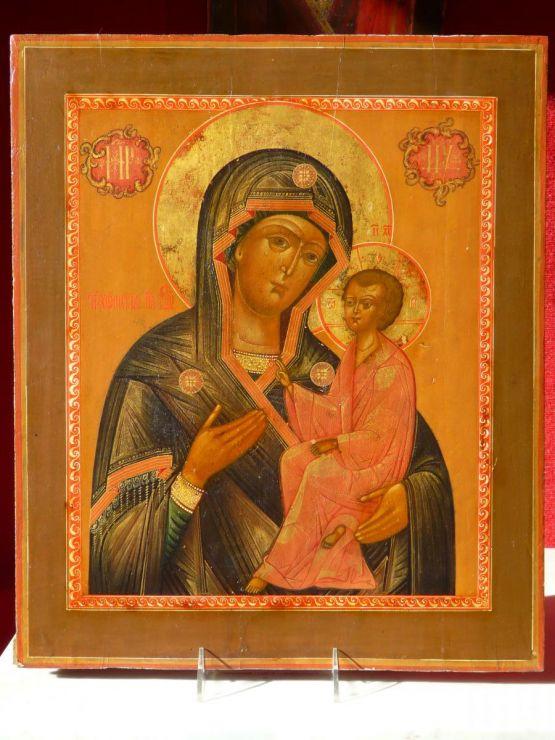 Икона Тихвинской Божьей Матери. Россия, 1850 г.