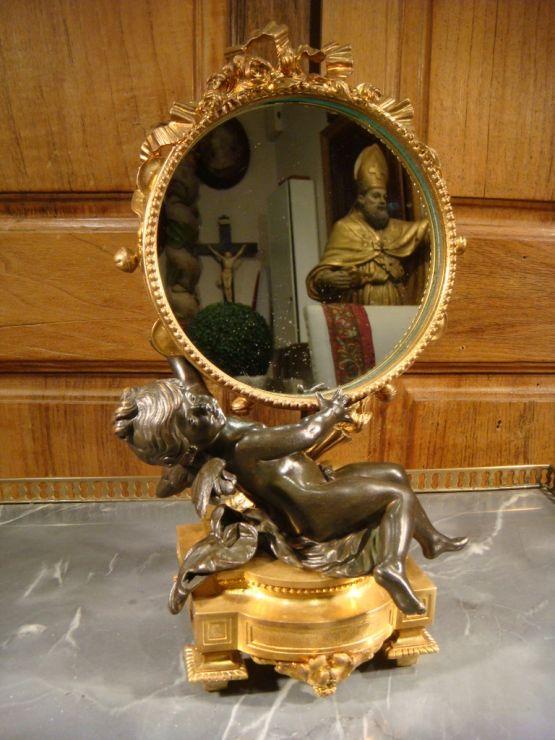 Зеркало из позолоченной бронзы в стиле Людовика XV