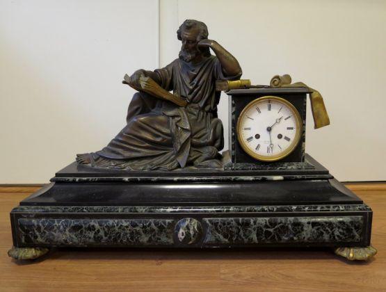 Бронзовые часы 'Мудрец' эпохи Наполеона III, XIX в