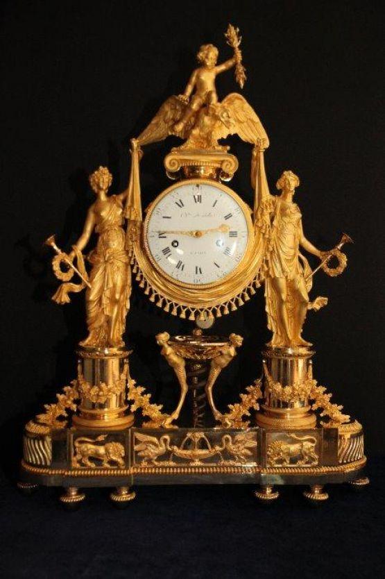 Часы в стиле ампир, Франция, 1778 г