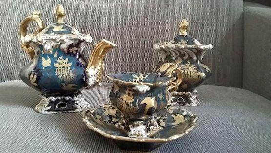 Чайный сервиз в японском стиле. Россия, XIX в.